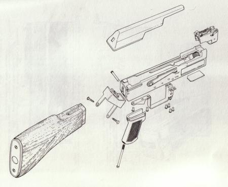 Second Model AK-47 Exploded View